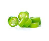 Sliced green chili Stock Photo