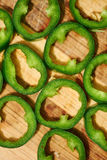 Sliced green chilli Royalty Free Stock Image