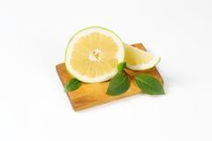 Sliced green grapefruit Royalty Free Stock Photos