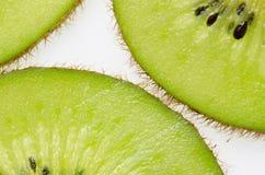 sliced of green kiwi fruit kiwi fruit on white background Stock Photography