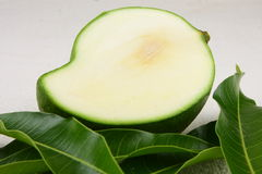 Sliced green mango Royalty Free Stock Photo