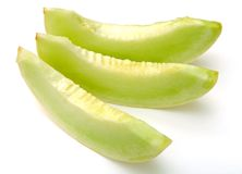 Sliced green melon Royalty Free Stock Photos