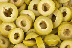 Sliced green olives Royalty Free Stock Image