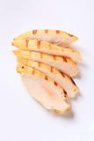 Sliced grilled chicken breast fillet Stock Image