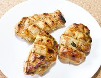 Sliced ​​grilled chicken Stock Photo