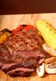 A sliced grilled ribeye steak Royalty Free Stock Photo