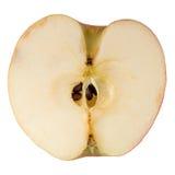 Sliced in half an apple Stock Photos