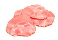 Sliced ham Stock Image