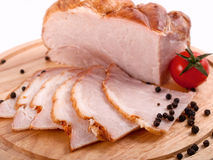 Sliced ham Stock Photography