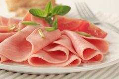 Sliced ham Stock Photos