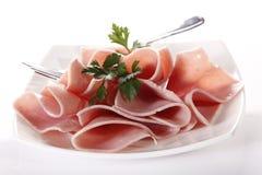 Sliced ham Stock Photos