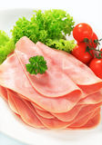 Sliced ham Royalty Free Stock Photos