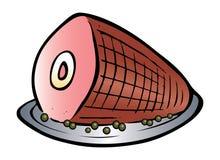 Sliced ham. Cartoon illustration of sliced ham Royalty Free Stock Photography