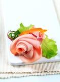 Sliced ham arrangement Stock Image