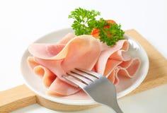 Sliced ham Royalty Free Stock Image