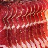 Sliced ham Stock Photography