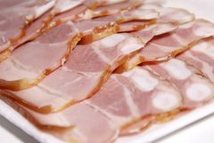Sliced ham container Royalty Free Stock Photos