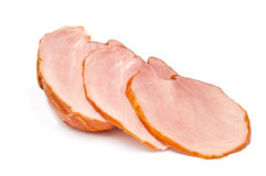 Sliced ham isolated Royalty Free Stock Photography