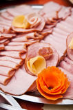 Sliced Ham on Platter Royalty Free Stock Photos
