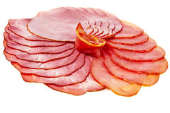 Sliced ham and tenderloin. Stock Photos