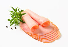 Sliced ham Royalty Free Stock Images