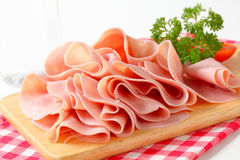 Sliced ham Royalty Free Stock Image