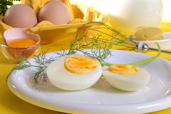Sliced hard boiled egg Royalty Free Stock Images
