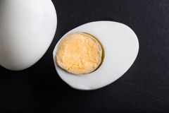 sliced hard - boiled egg Stock Photo