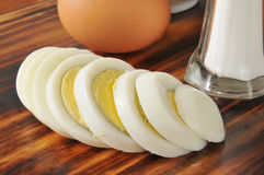Sliced hard boiled egg Stock Images