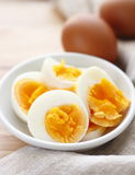 Sliced-hard boiled eggs Royalty Free Stock Photography
