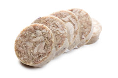 Sliced headcheese sausage Stock Image