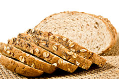 Sliced healthy fresh wholegrain bread Royalty Free Stock Photo