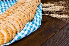 Sliced healthy wholegrain bread Stock Images