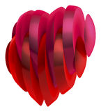 Sliced heart, red, magenta royalty free illustration