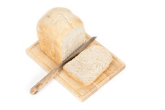 Sliced Homemade Bread Front Angeled Top View Royalty Free Stock Image