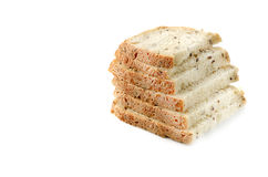 Sliced homemade bread isolated on white background. Stock Photos