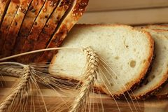 Sliced homemade bread Royalty Free Stock Image