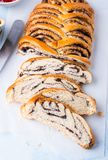 Sliced homemade poppy seed roll Royalty Free Stock Image