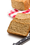 Sliced homemade whole wheat bread Royalty Free Stock Images