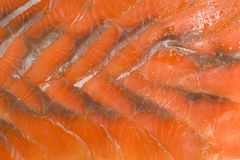 Sliced hunchback salmon background. Tasty background. Sliced hunchback salmon Stock Photo