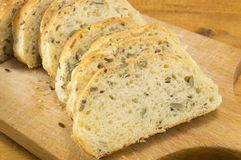 Sliced Integral bread with seeds Stock Photo