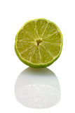 Sliced isolated green lemon (lat. Citrus) Royalty Free Stock Images