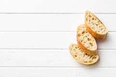 Sliced Italian ciabatta Stock Images