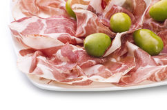 Sliced italian coppa Royalty Free Stock Photos