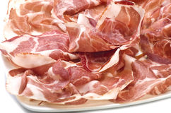 Sliced italian coppa Stock Photos