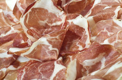 Sliced italian coppa Royalty Free Stock Images