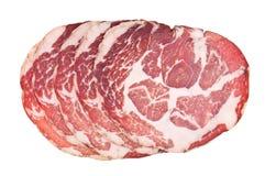 Sliced italian ham Royalty Free Stock Photo