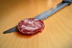 Sliced Italian Salami Stock Photos