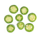 Sliced Jalapeno Peppers Stock Photography