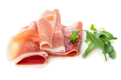 Sliced of jamon Royalty Free Stock Photography